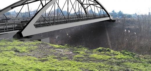 Il rendering del nuovo ponte di Bomporto