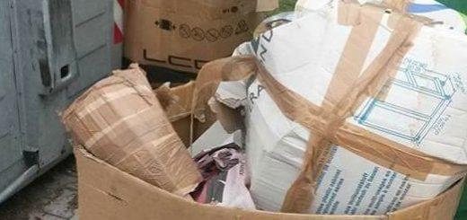 Spazzatura abbandonata a Bomporto. Sul cartone cè un indirizzo... di Crevalcore