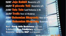 A Novi, Sant'Antonio e Rovereto arriva il cinema all'aperto