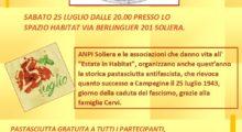 Soliera, sabato 25 luglio il rito della Pastasciutta Antifascista