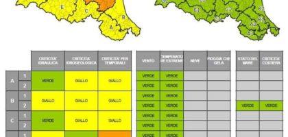 Allerta meteo Protezione Civile per temporali e piene dei fiumi