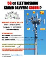 "San Possidonio, mercoledì 29 luglio: ""5G ed elettrosmog, siamo davvero sicuri?"""