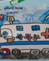 """Modena, un'ambulanza """"colorata"""" dai bambini… per i bambini"""