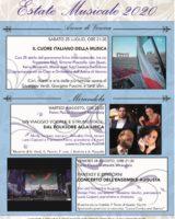 Associazione Amici della Musica di Mirandola, tutti i concerti estivi