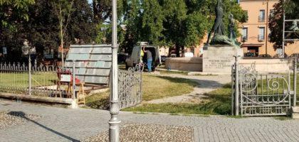 Finale Emilia, iniziati i lavori di ripristino della fontana di Piazza Baccarini