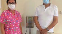 La Consulta del Volontariato di Medolla dona una piantana igienizzante a tutti i medici