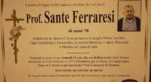 Lutto per la scomparsa del professor Sante Ferraresi