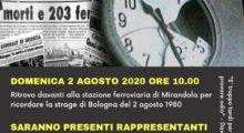 Strage di Bologna, il 2 agosto il ricordo alla stazione di Cividale