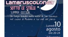 Il 10 agosto torna la Lambruscolonga Estate in tutto il centro storico di Modena