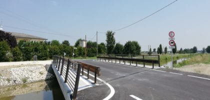 A Mirandola ripristinato il ponte stradale sul canale Diversivo