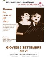 """""""Donne in cerca di riso"""", un recital semiserio a San Prospero"""