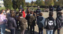 A Mirandola ragazzi a lezione di educazione stradale con gli agenti di Polizia Locale