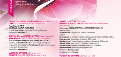 Tutti gli eventi in calendario nella Bassa per l'Ottobre Rosa 2020 AMO