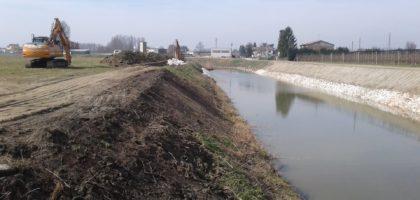 Burana, erosione dei canali e ripristino delle frane