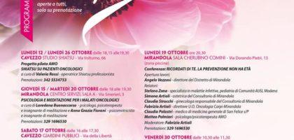 Camposanto, Cavezzo, Nonantola, Soliera: Municipi, Castelli e Torri si illuminano di rosa per l'Ottobre della prevenzione
