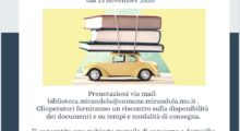 La biblioteca di Mirandola attiva il servizio di consegna a domicilio
